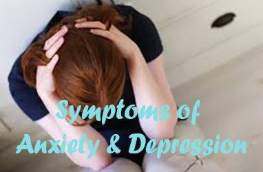 Symptoms of Anxiety & Depression